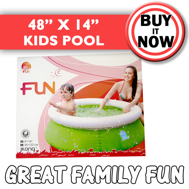 Fun rigid paddling pool 48 x 14 top ring support pvc for Rigid paddling pool