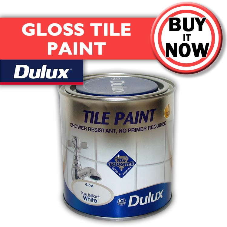 white tile paint dulux water resistant bathroom paint. Black Bedroom Furniture Sets. Home Design Ideas