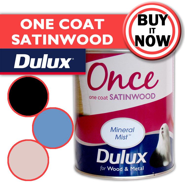 Dulux One Coat Satin Wood Metal Paint Satinwood Emulsion 750ml Ebay