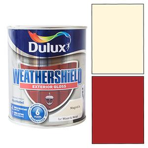 Dulux Weathershield Exterior Paint 750ml Red Monarch Cream Magnolia Gloss Satin Ebay
