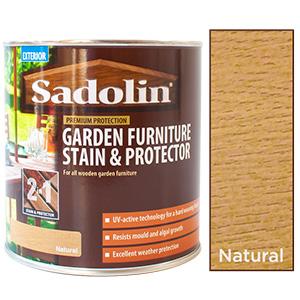 Garden Furniture Wood Stain Protector 1L Sadolin Natural