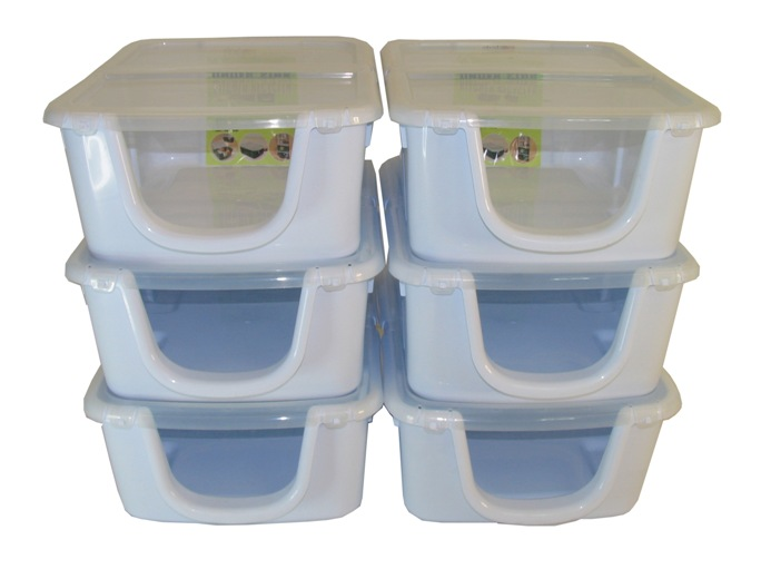 OPEN-FRONT RECYCLER PLASTIC STORAGE BOXES - 24 LITRE - PRICE INCL P&P